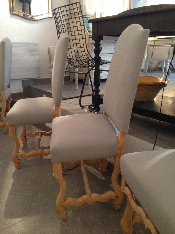 8 sillas de comedor de estilo luis xiv in asientos for Asientos para comedor