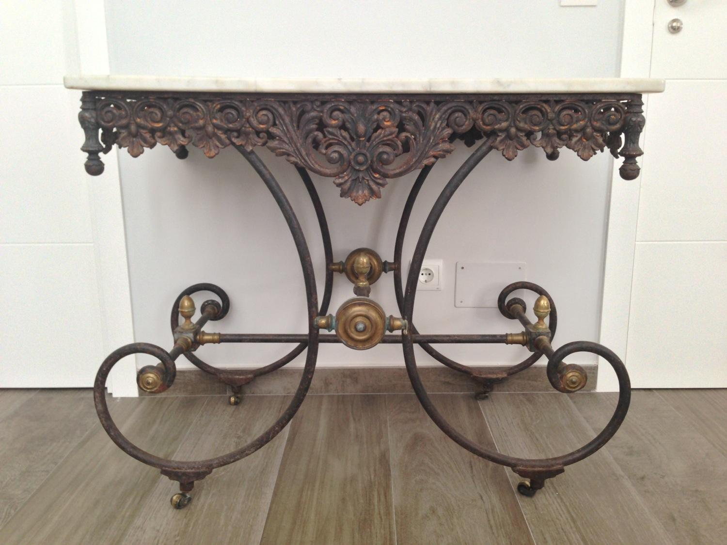 French Antique Butchers Table