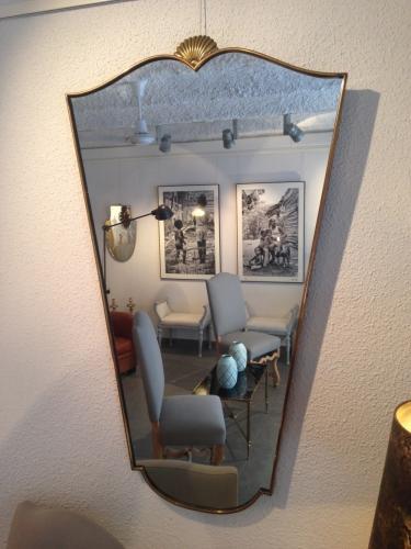 Gio Ponti Brass Frame Mirror