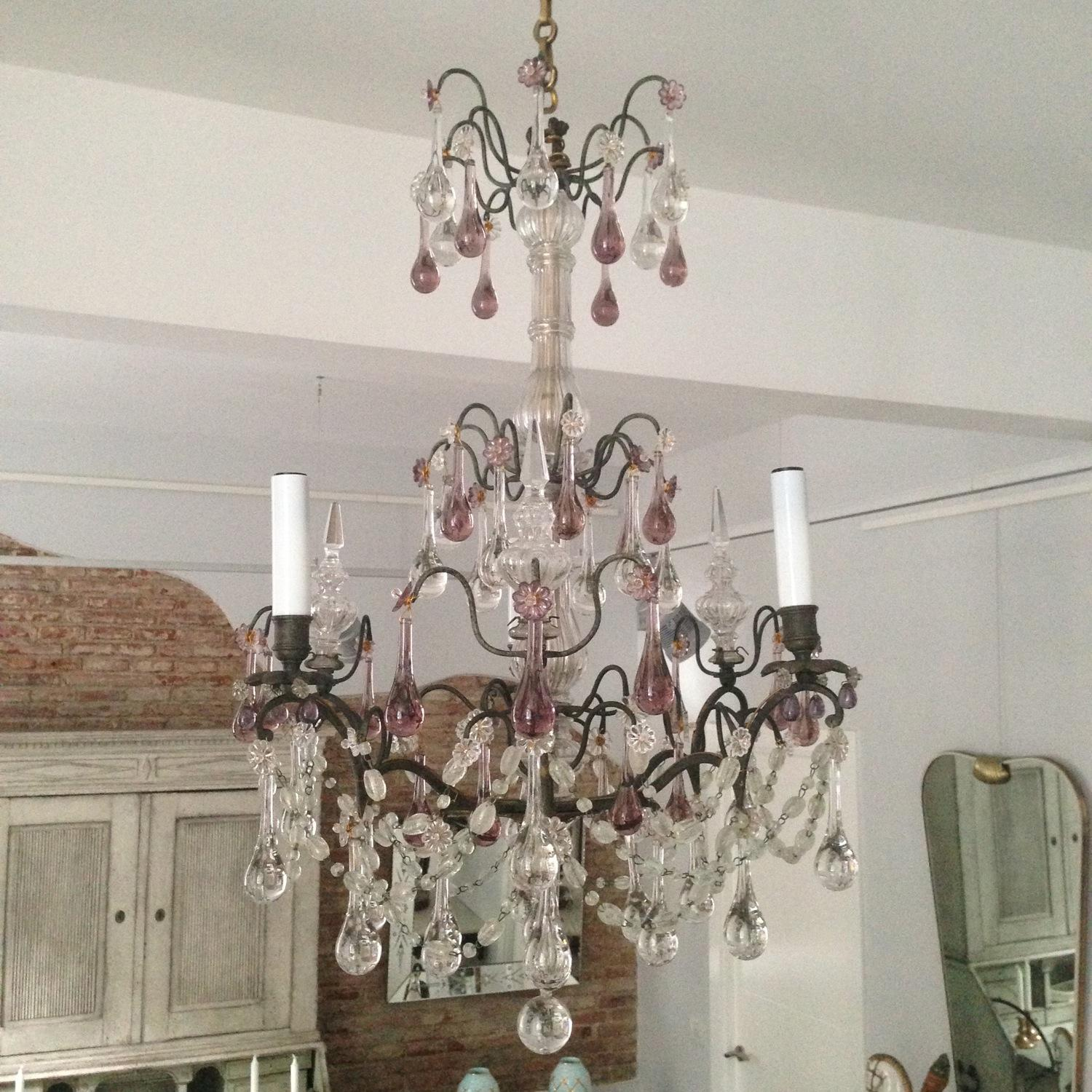 Antique French Baccarat Chandelier In Lighting