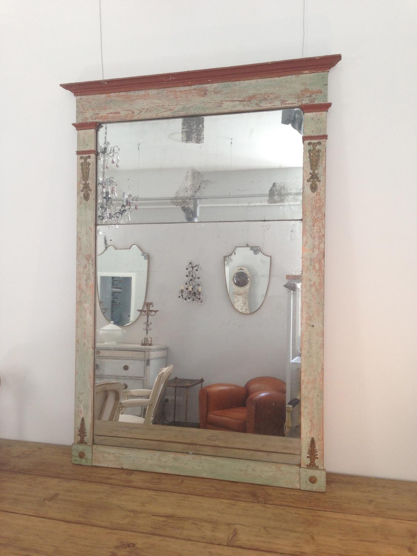 French Directoire Trumeau Mirror, Circa 1800