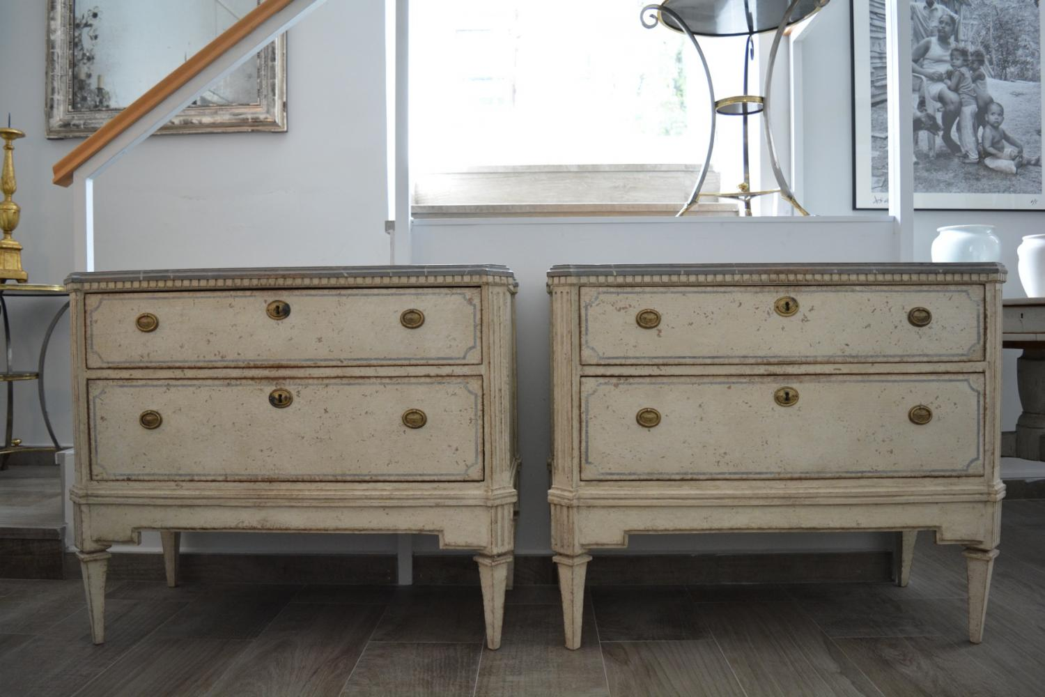 Pair of Gustavian Chest of Drawers