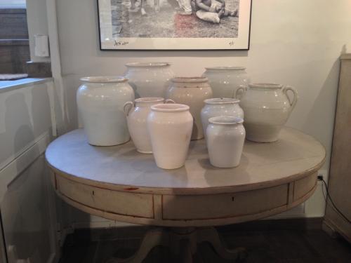 Set of 9 Antique Glazed Pots, 19th Century