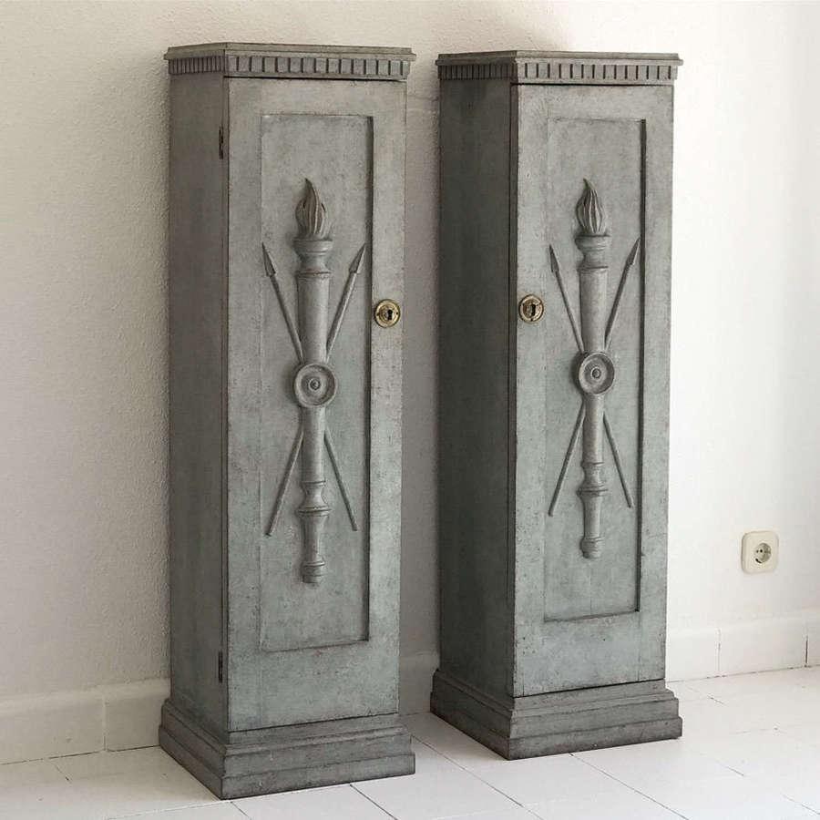 Pair of Gustavian Style Pedestals, Circa 1850