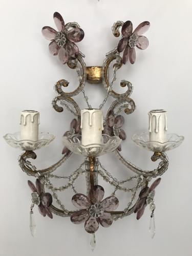 Pair of Italian Wall Lights, Circa 1940