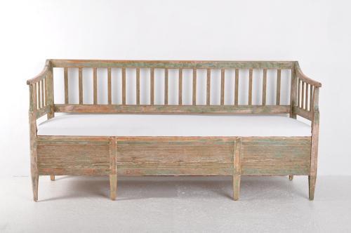Swedish Gustavian Period Sofa Bench, Circa 1800