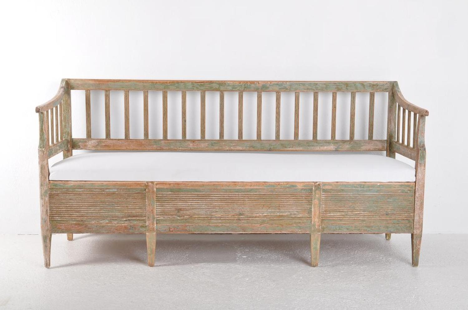 Swedish Gustavian Period Sofa Bench, Circa 1800
