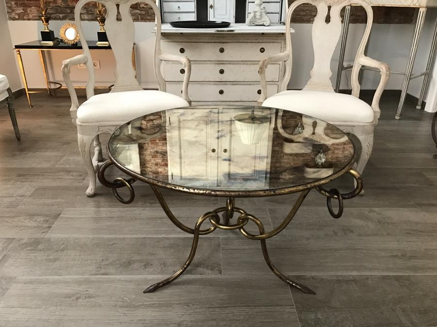 French Coffee Table by René Drouet