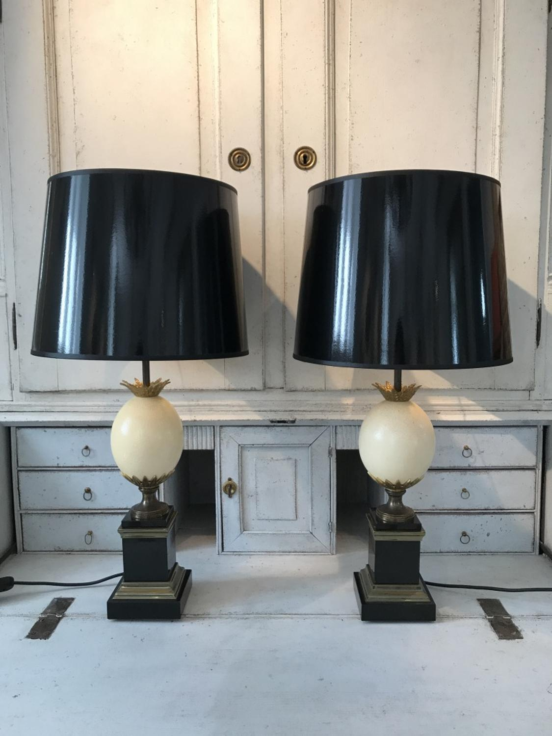 Pair of French Maison Charles Lamps, Circa 1960