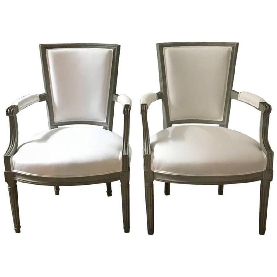 Pair of French Louis XVI Armchairs, 18th Century