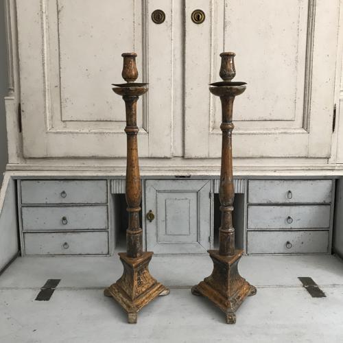 Pair of Spanish Candlesticks, 18th Century