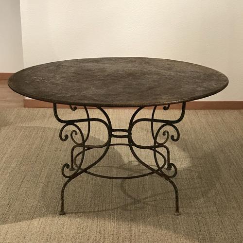 French Iron Table, Circa 1880