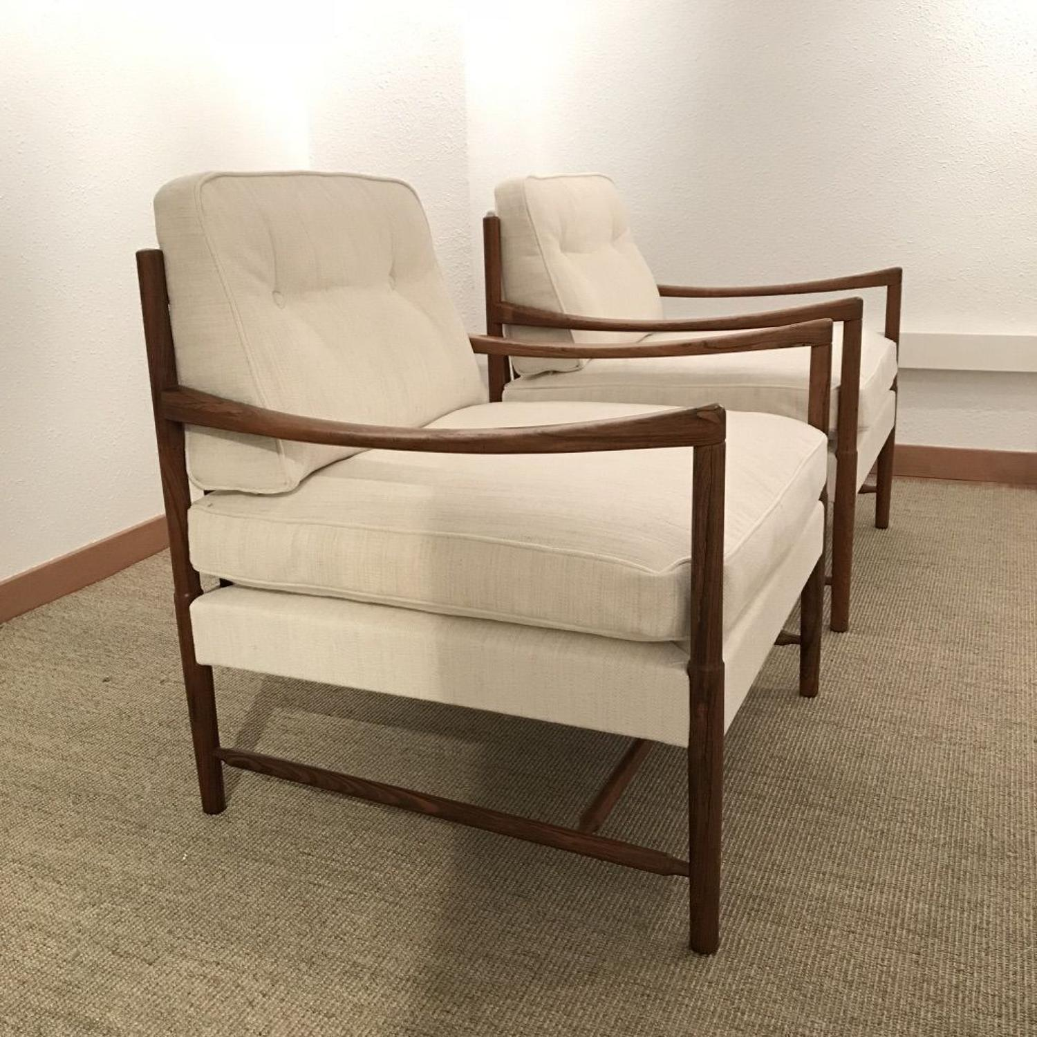 Pair of Mid-Century Swedish Rosewood Armchairs