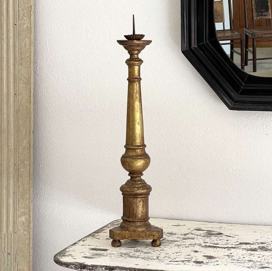 18th Century French Giltwood Candlestick