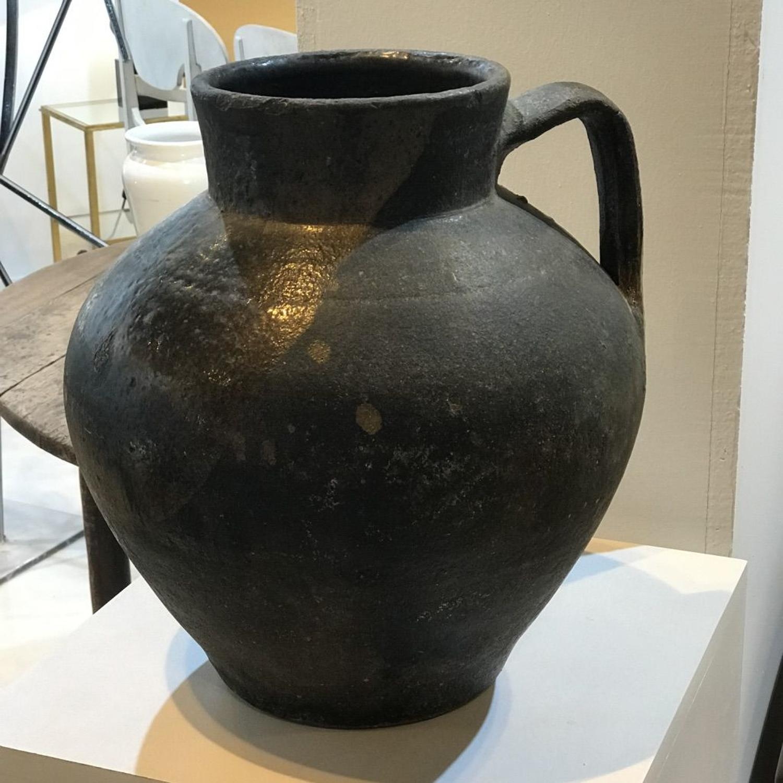 Antique Spanish Handmade Pottery Jar