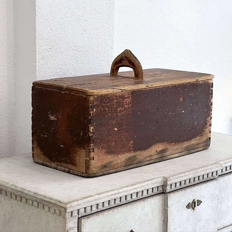 Swedish Folk Art Box, 19th Century