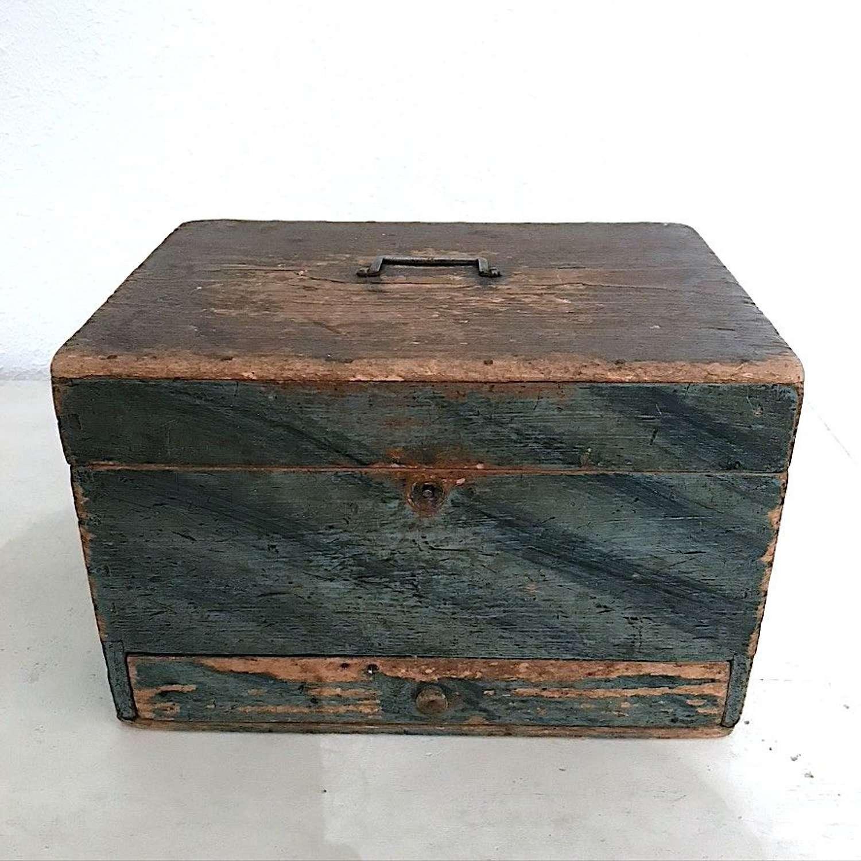 Swedish Folk Art Box, Circa 1850