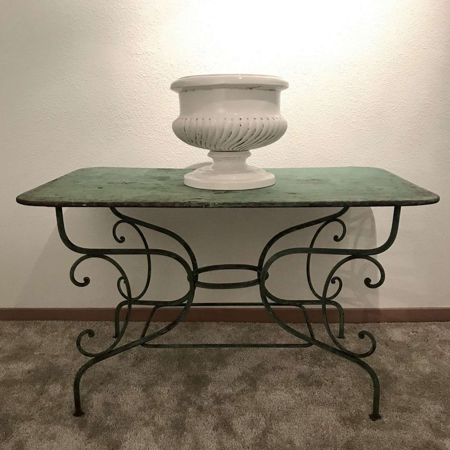 French Painted Iron Table, Circa 1880