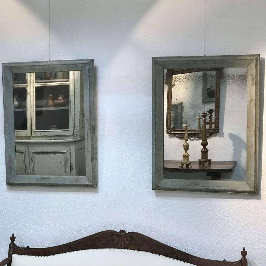 Pair of French Painted Mirrors, 19th Century