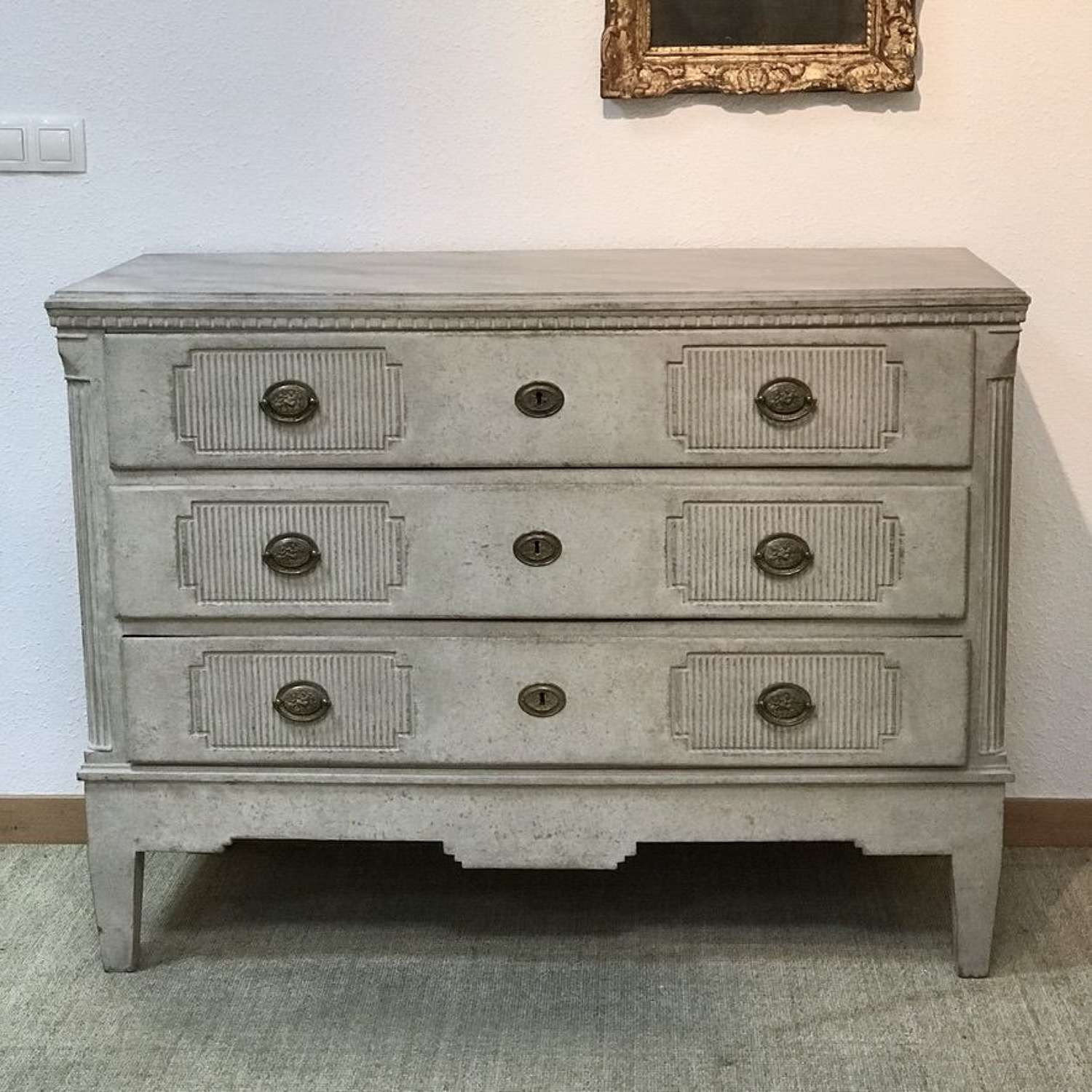 Gustavian Chest of Drawers, Circa 1790