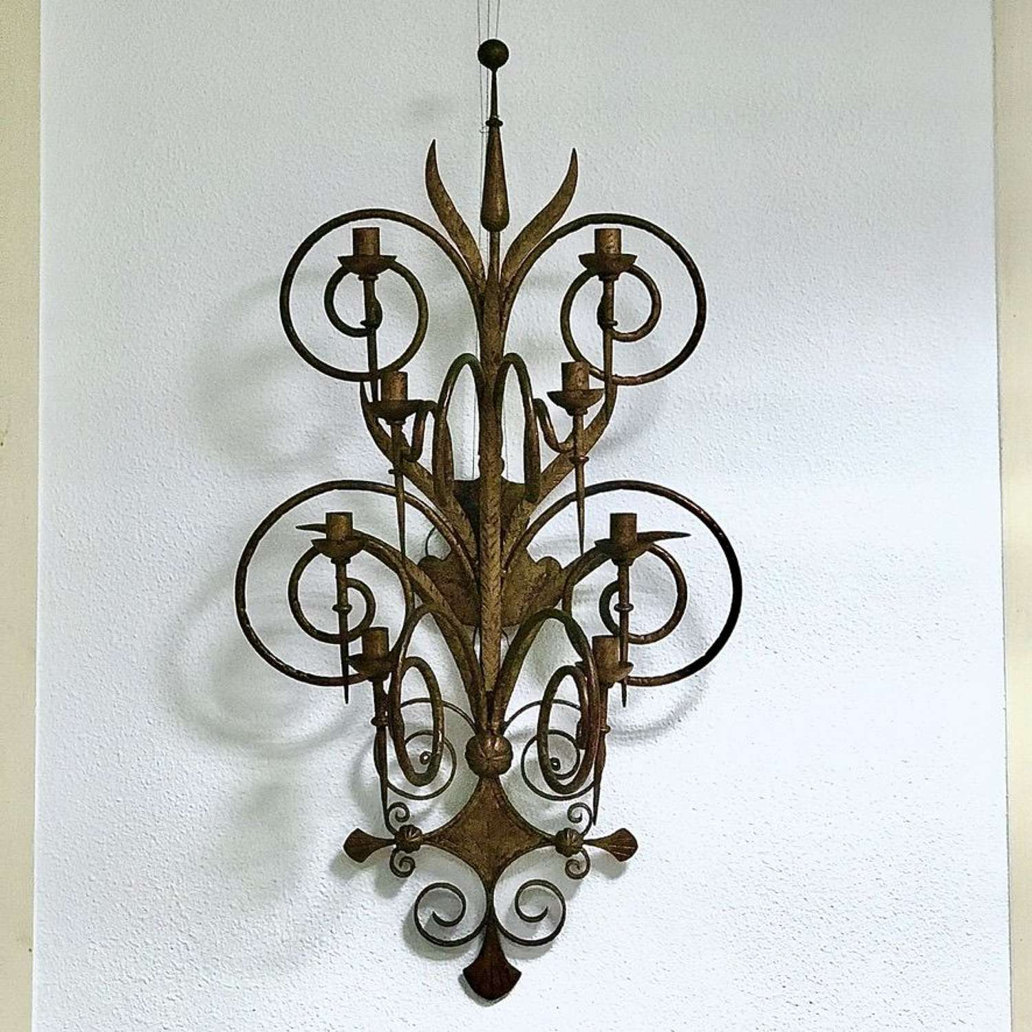 Forged Iron Wall Sconce, Circa 1940