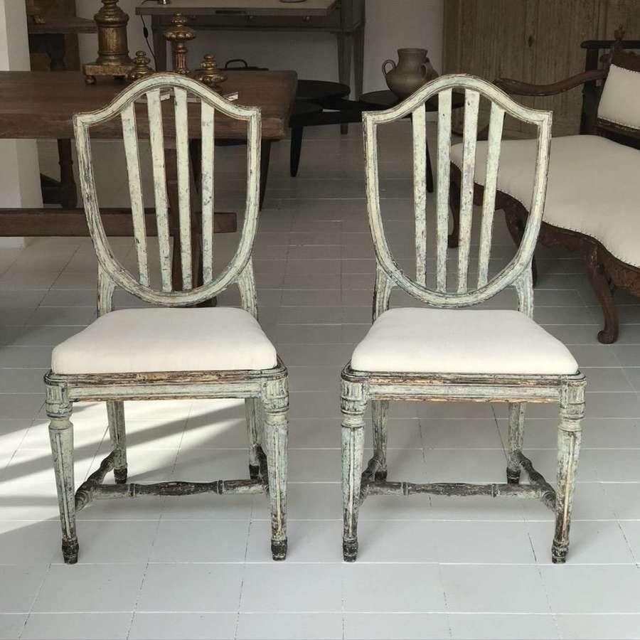 Swedish Gustavian Pair of Chairs