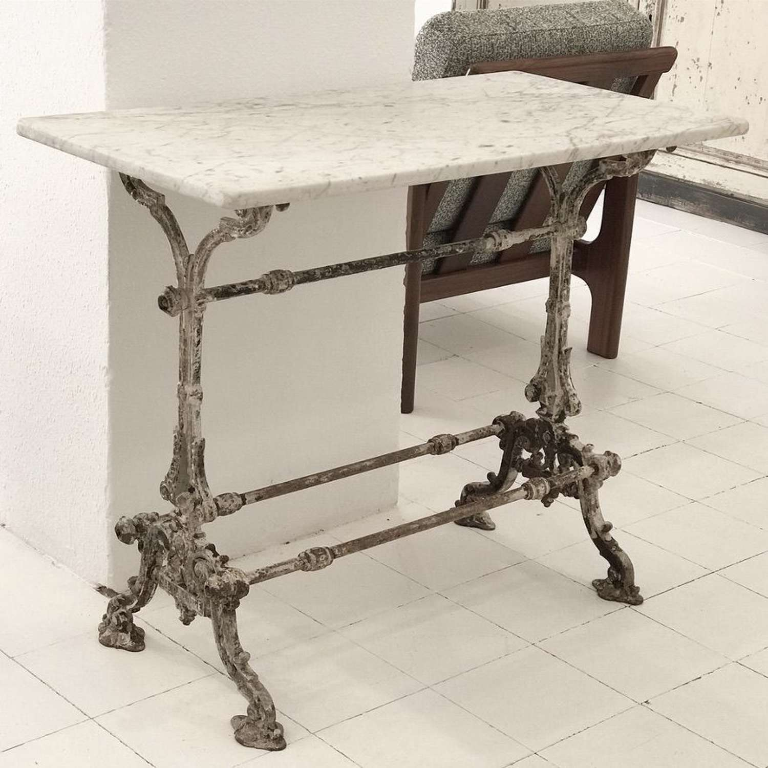 French Cast Iron Table, 19th Century