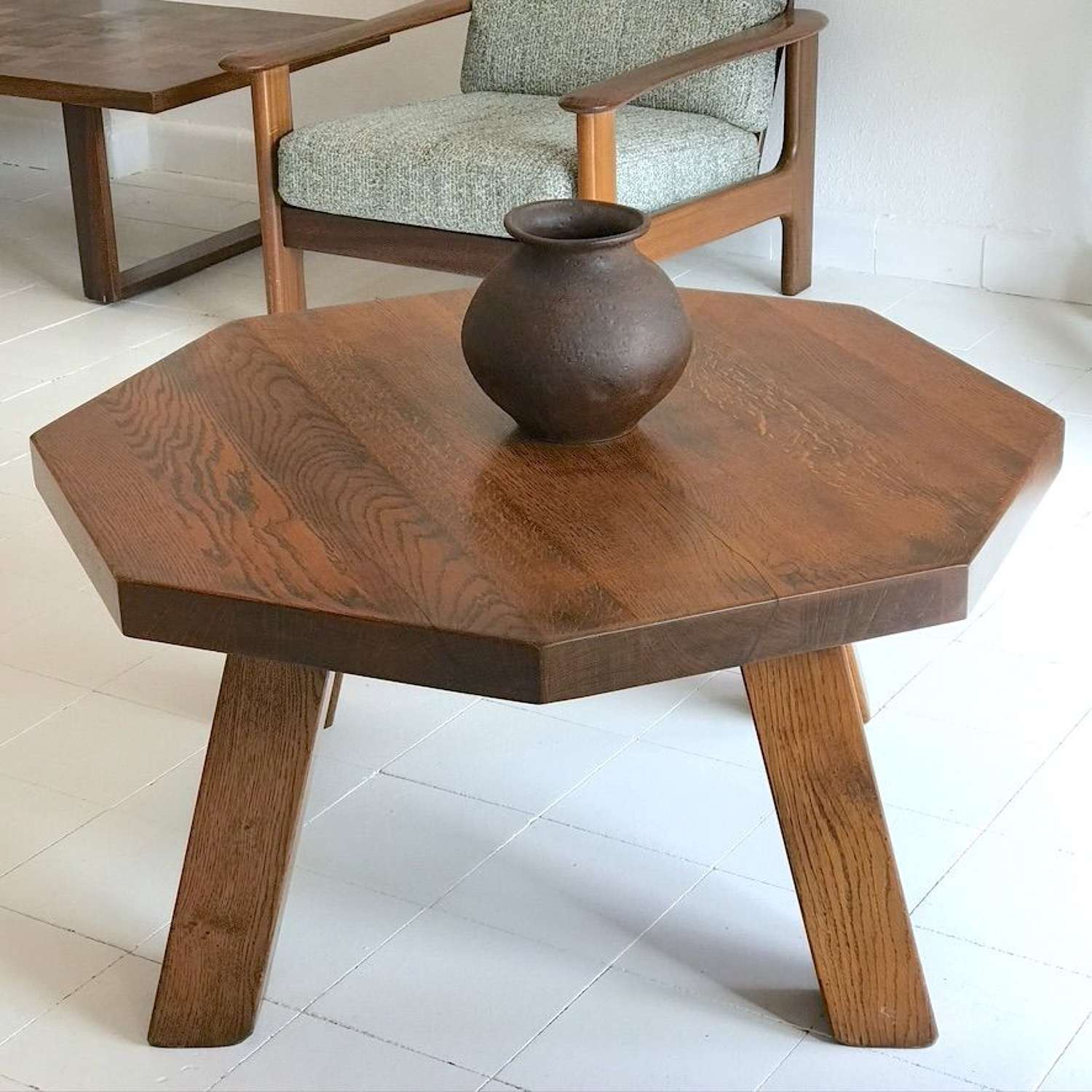 French Brutalist Coffee Table, 1960s